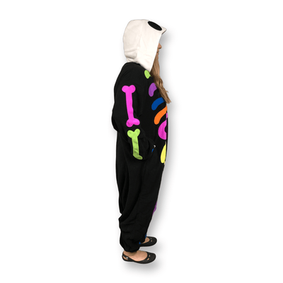 Colorful Skeleton Kigurumi - skeleton onesie pajamas for adults