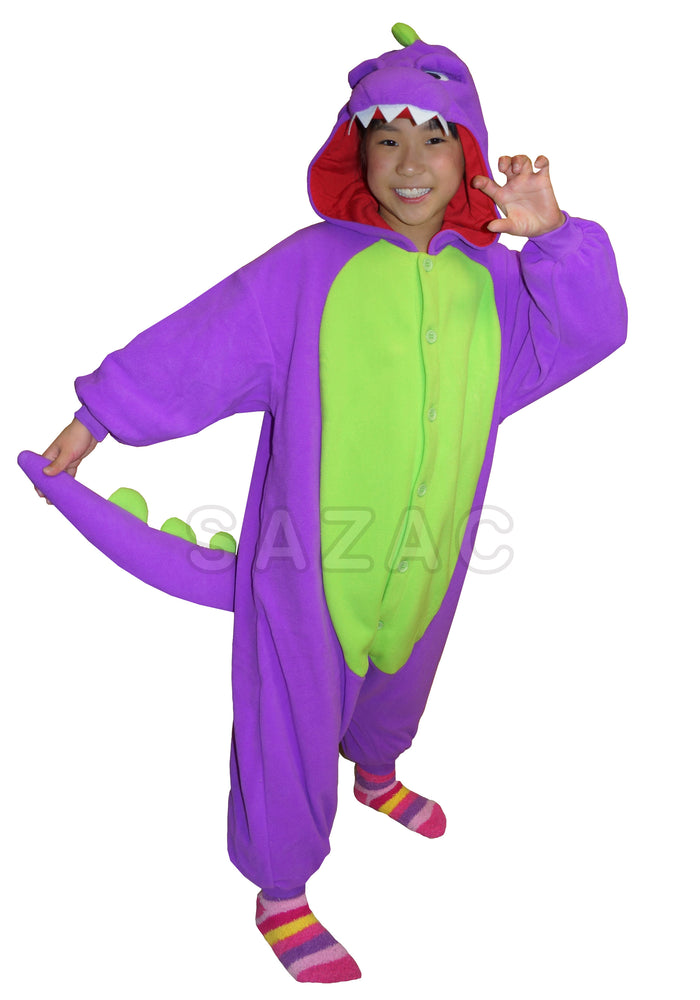 Dinosaur Kids Kigurumi - Purple