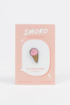 Ice Cream Cone Enamel PIn - Kutame