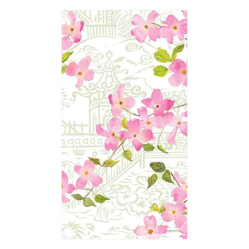 Caspari Blossoming Branches Paper Guest Towel Napkins - 15 Per Package