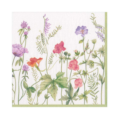 Caspari French Floral Paper Luncheon Napkins - 20 Per Package
