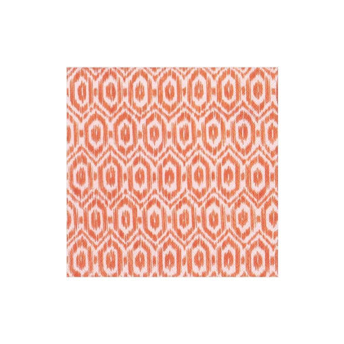 Caspari Amala Ikat Paper Cocktail Napkins in Orange - 20 Per Package