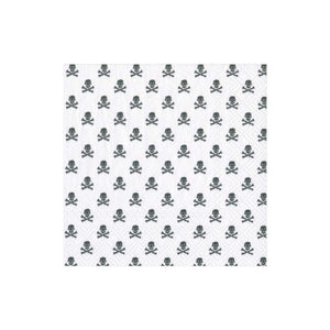 Caspari Skull and Crossbones Paper Cocktail Napkins in White - 20 Per Package