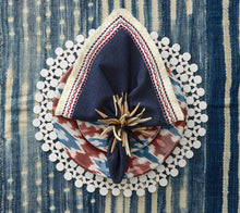Load image into Gallery viewer, Kim Seybert Firework Napkin in Blue, White & Red - Set of 4