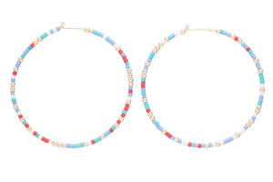enewton Hope Unwritten Hoop Earrings - Firecracker