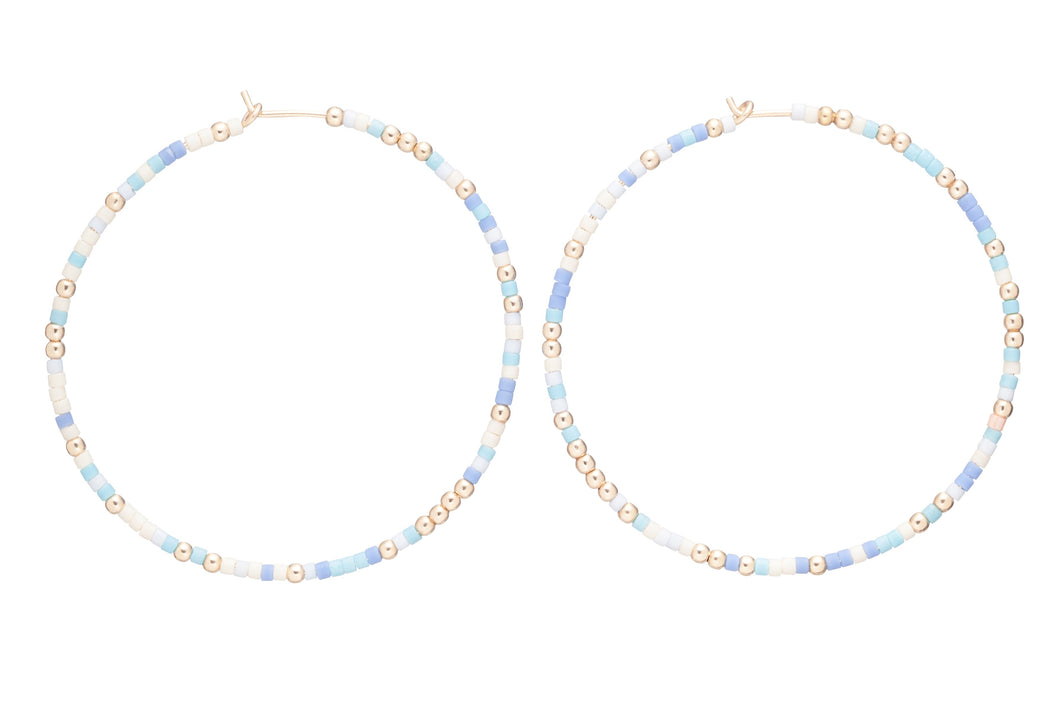 enewton Hope Unwritten Hoop Earrings - Blue Lagoon