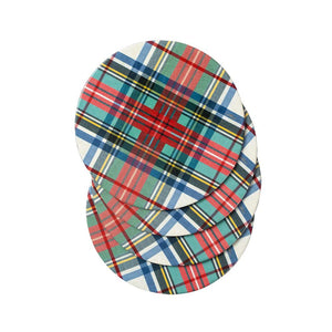 Caspari Dress Stewart Tartan Coasters