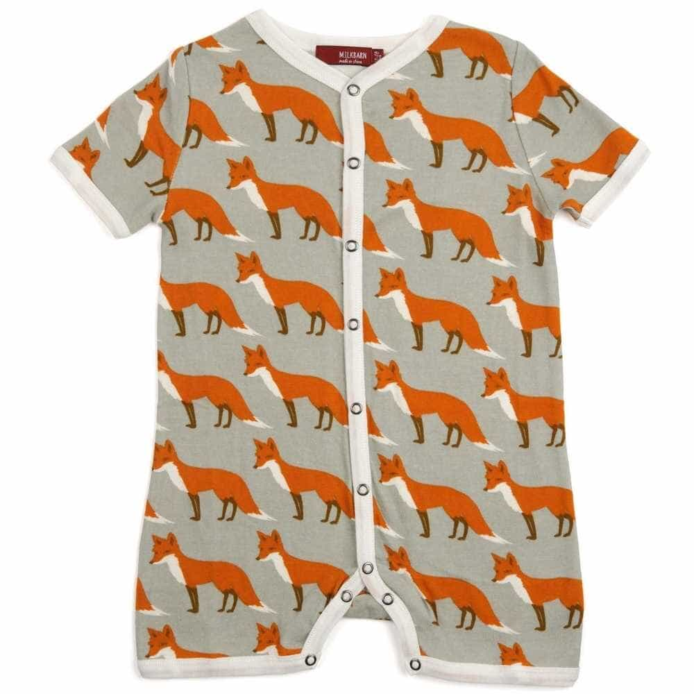 Milkbarn Kids Shortall Orange Fox 12-18 M