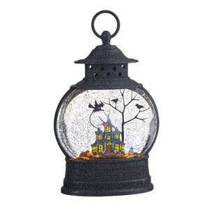 "10"" HAUNTED HOUSE LIGHTED WATER LANTERN"