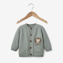 Load image into Gallery viewer, Elegant Baby 6 Month Lion Knit Baby Cardigan