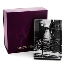 Load image into Gallery viewer, Simon Pearce Woodbury Vertical Photo Block In A Gift Box
