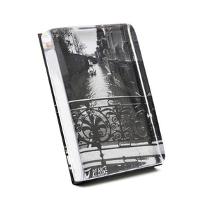 Simon Pearce Woodbury Vertical Photo Block In A Gift Box