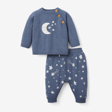 Load image into Gallery viewer, Elegant Baby Celestial Knit Sweater & Pant Baby Gift Set