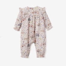 Load image into Gallery viewer, Elegant Baby 9 - 12 Month Floral Print Organic Muslin Flutter Baby Jumpsuit