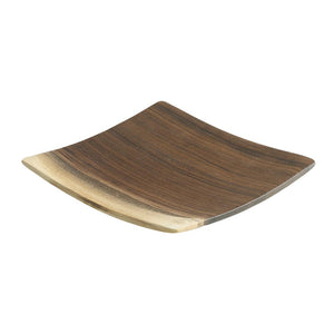 Andrew Pearce Square Wooden Plate in Black Walnut