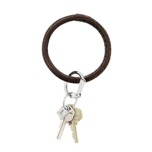 Oventure Silicone Big O Key Ring - Chocolate Diamond Croc