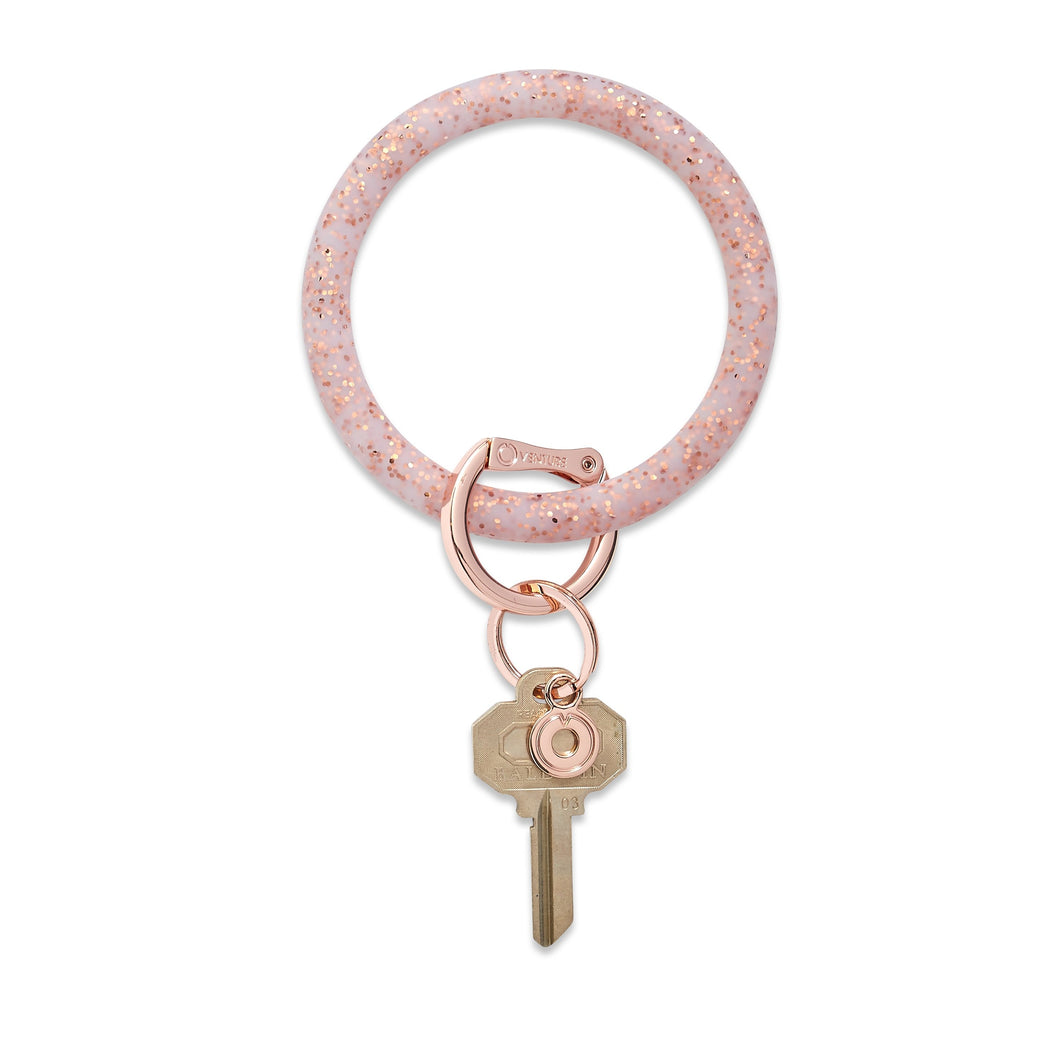 Oventure Silicone Big O Key Ring - Rose Gold Confetti