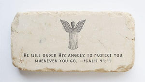 Twelve Stone Art Half Block (Psalm 91:11)