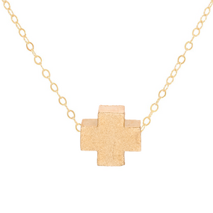 "enewton 16"" necklace gold - signature cross matte gold"