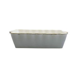 Vietri Italian Bakers Gray Medium Rectangular Baker