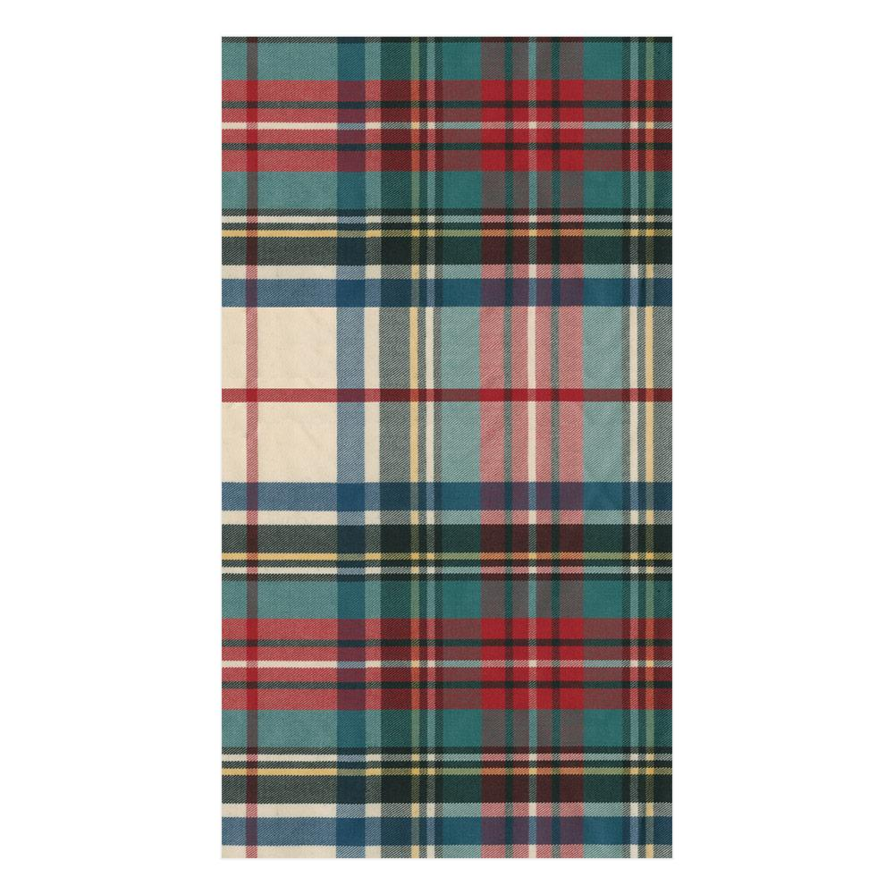 Caspari Dress Stewart Tartan Paper Guest Towel Napkins - 15 Per Package
