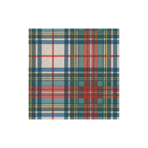 Caspari Dress Stewart Tartan Paper Cocktail Napkins - 20 Per Package