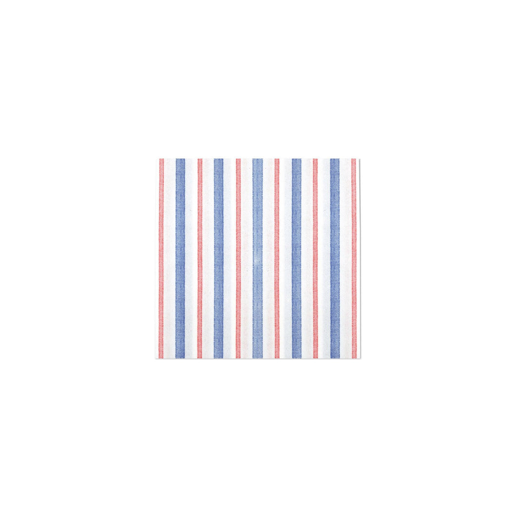 Vietri Papersoft Napkins Americana Stripe Cocktail Napkins (Pack of 20)