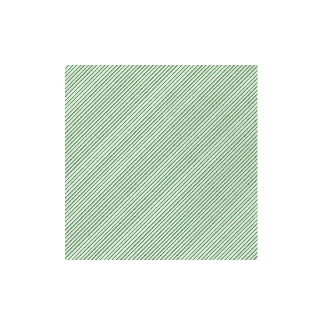 Vietri Papersoft Napkins Seersucker Stripe Dinner Napkins Green (Pack of 20)