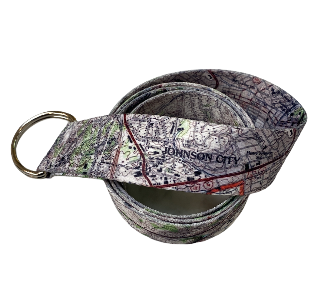 Johnson City Map Belt with Gift Box