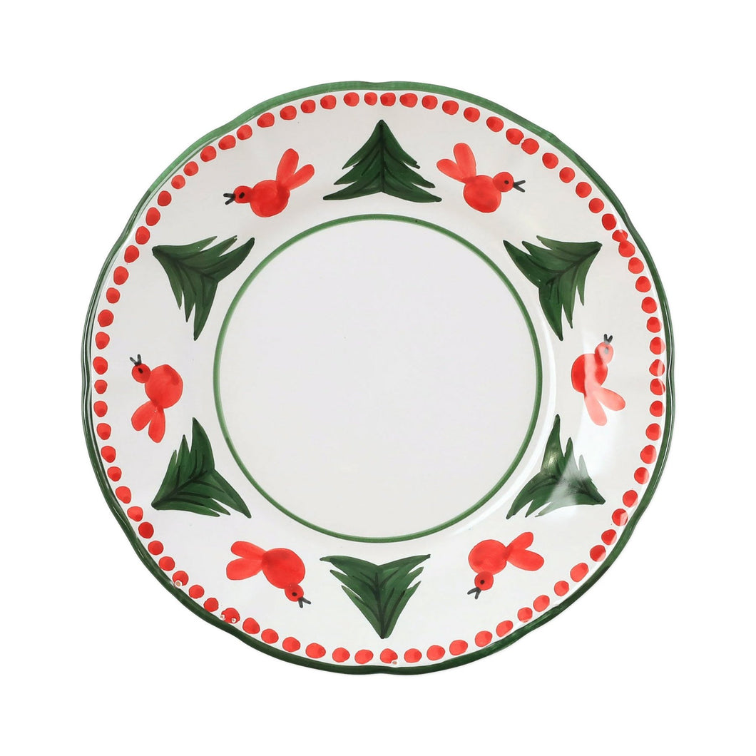 Vietri Uccello Rosso Dinner Plate