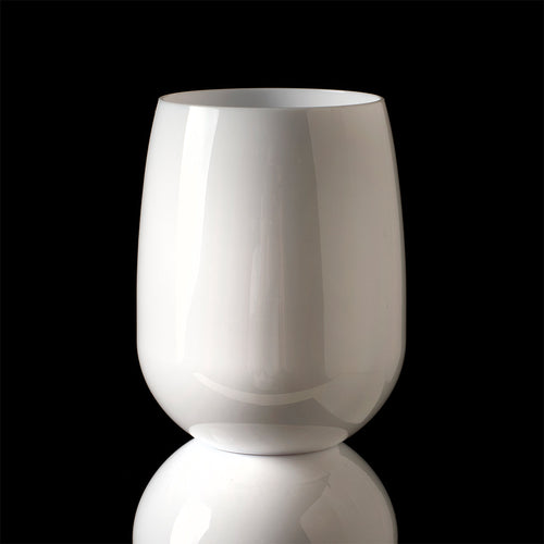 Acrylic Stemless Wine Glass White