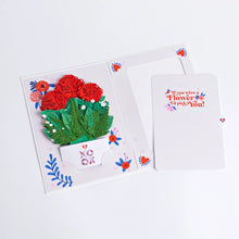Load image into Gallery viewer, Lovepop XOXO Card with 3D Mini Bouquet