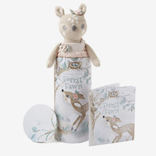 "Load image into Gallery viewer, Elegant Baby 10"" Fifi Fawn Baby Knit Toy with Gift Box"