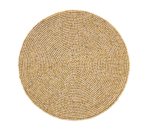 Kim Seybert Wood Bead Placemat in Natural - Set of 4