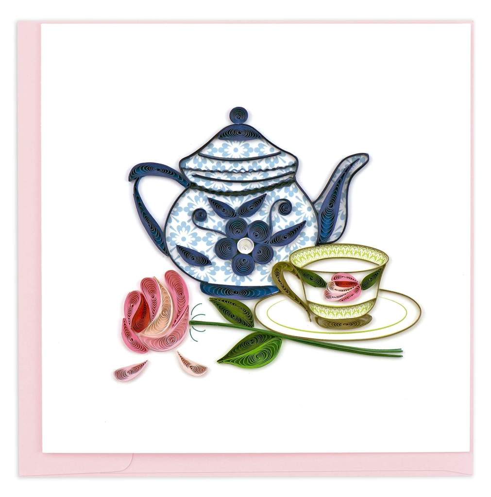 Quilling Card - Tea Party