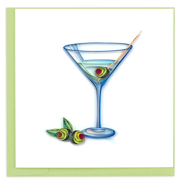 Quilling Card - Gin Martini
