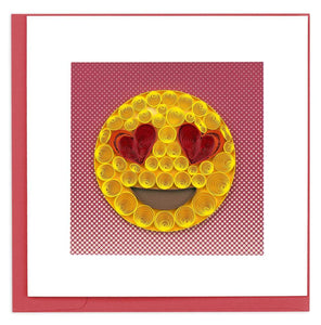 Quilling Card - Love Emoji Greeting Card