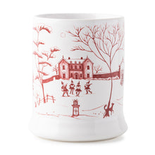 "Load image into Gallery viewer, Juliska Country Estate Winter Frolic ""Mr. & Mrs. Claus"" Ruby Mug"