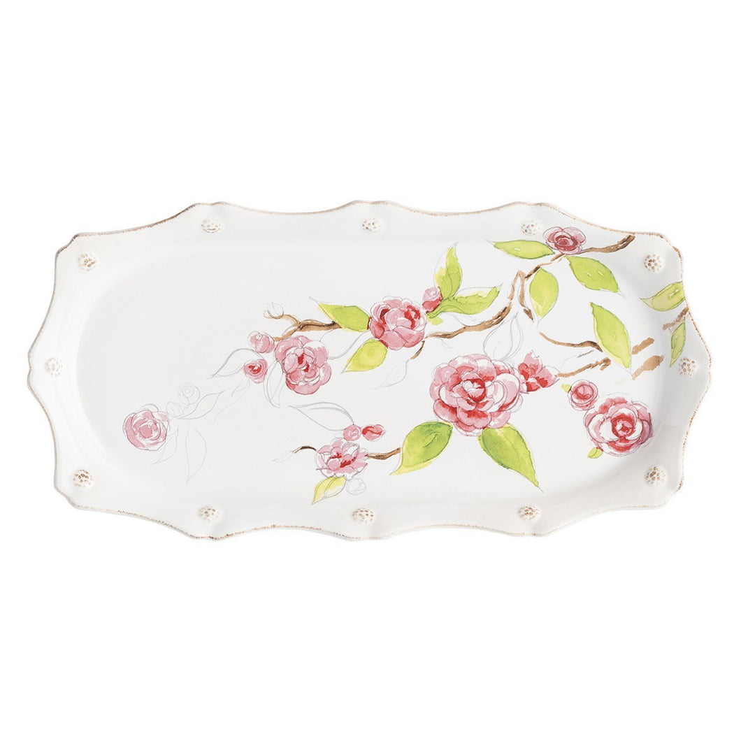Juliska Berry & Thread Floral Sketch Camellia Hostess Tray