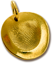 Load image into Gallery viewer, Custom Gold Fingerprint Pendant Kit