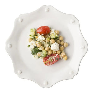 Juliska Berry & Thread White Scalloped Dessert/Salad Plate