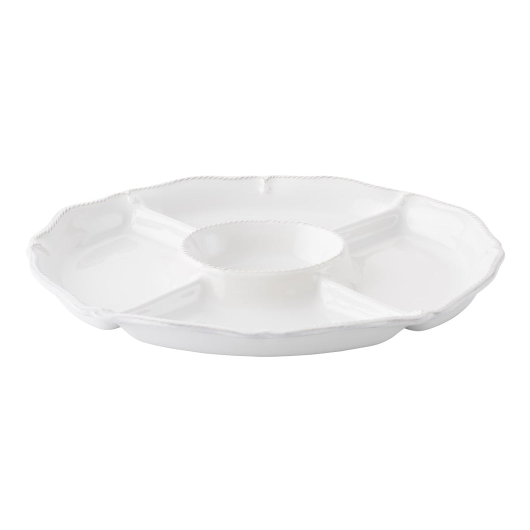 Juliska Berry & Thread Whitewash Crudite Platter