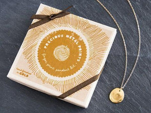 Custom Gold Fingerprint Pendant Kit