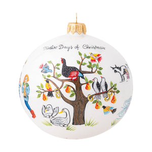 Juliska Limited Edition Twelve Days of Christmas Glass Ornament