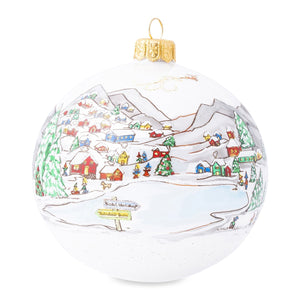Juliska Limited Edition North Pole Glass Ornament
