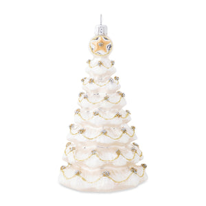 Juliska Berry & Thread Silver/Gold Tree Glass Ornament