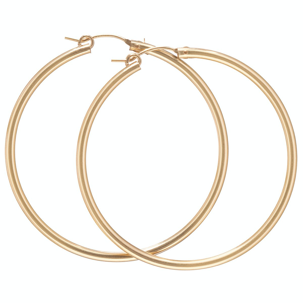 enewton round gold hoop - smooth