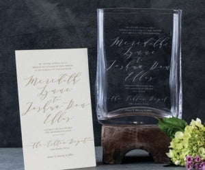 Simon Pearce Wedding Invitation Vase