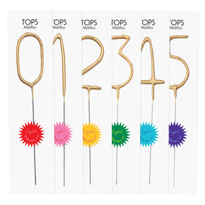 Big Golden Sparkler Wand Number - 7