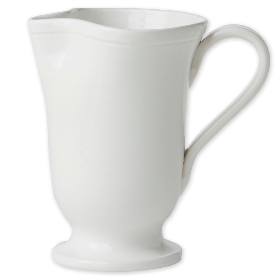 Vietri Fresh White Large Footed Pitcher